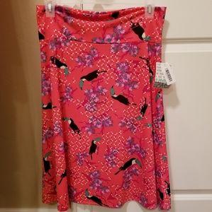 Tropical print Lularoe Azure skirt 2xl